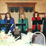 Quintessence singing group (Ann Moyle in red jacket)