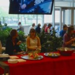 Participants enjoy their meal