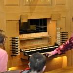 Carol explains how the tracker organ works