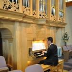 Steven plays the organ