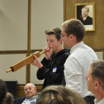 Blowing an organ pipe