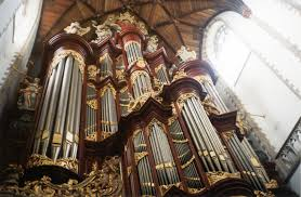 The great organ at St. Bavo's Cathedral, Haarlem, built by Christian Müller 1735-1738 and renovated by Marcussen & Søn of Denmark 1959-1961.